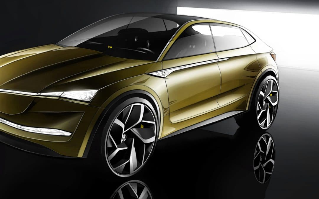ŠKODA Vision E concept electric vehicle