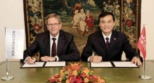 Volkswagen Konzern und Anhui Jianghuai Automobile (JAC) streben gemeinsame Entwicklung von E-Fahrzeugen in China an
