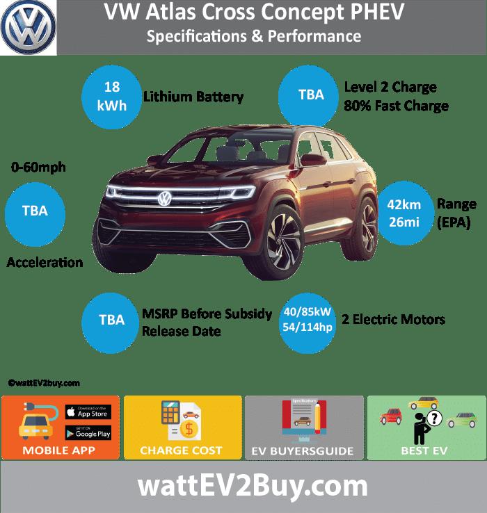 VW Atlas Cross PHEV | Specs | Range | Battery | Release Date