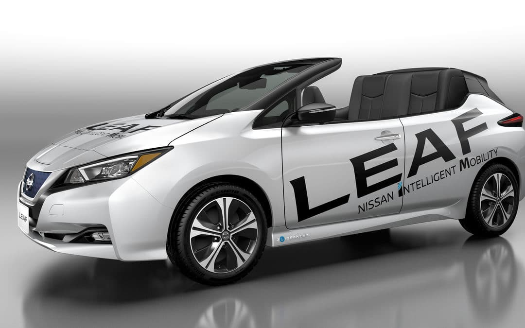 Nissan debuts open-air version of the new Nissan LEAF