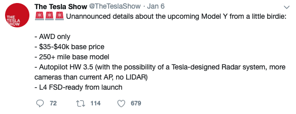Top-5-EV-news-Week-2-2019-tesla-Model-Y-tweet