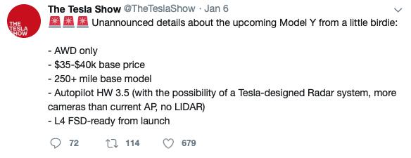Top-5-EV-news-Week-2-2019-tesla-Model-Y-tweet