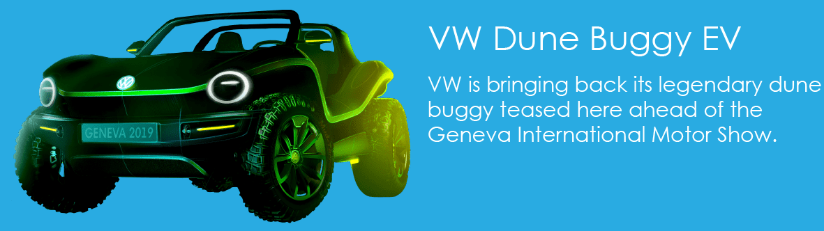 VW is bringing back its legendary dune buggy teased here ahead of the Geneva International Motor Show.