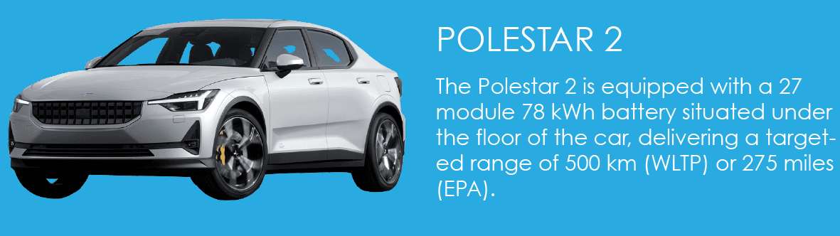 The Polestar 2 Is Equipped With A 27 Module 78 Kwh Battery Situated Under Floor