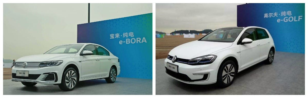 VW launch two pure electric models in China