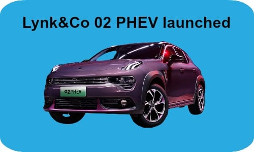 Lynk&Co 02 PHEV launched