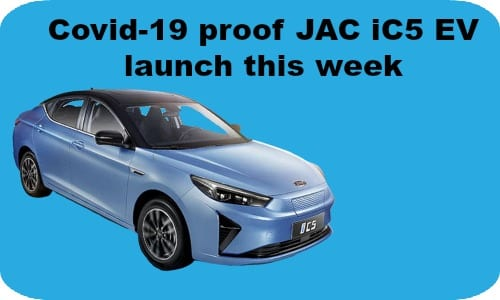 JAC iC5 EV to go on sale this week