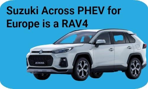 Toyota RAV4 as a Suzuki Across PHEV