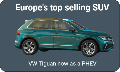The best selling Tiguan SUV as a plug-in hybrid EV