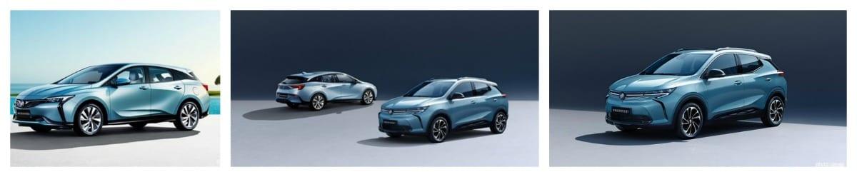 Buick velite models at chengdu auto show
