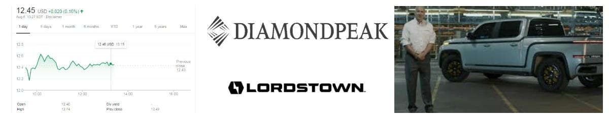 Lordstown Diamond Peak reverse merger